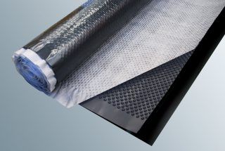 Dimpled sheet / Filter fabric and sliding film drainage mat