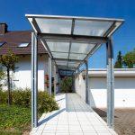 Hofüberdachung mit Polycarbonat Stegplatten