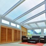 Winter garden with polycarbonate wall panels 25 mm