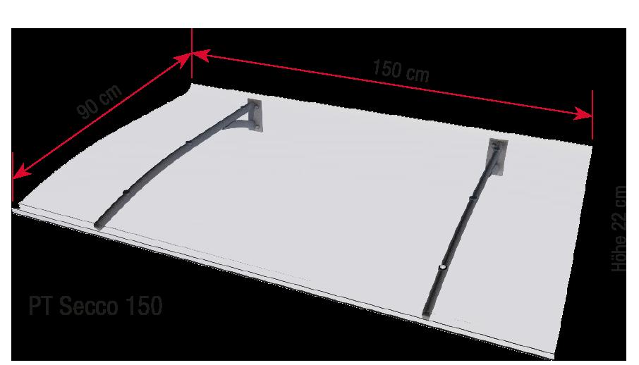 PT Secco 150 dimensions