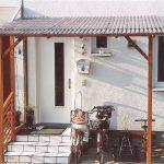 Vordach mit PVC Wellplatten