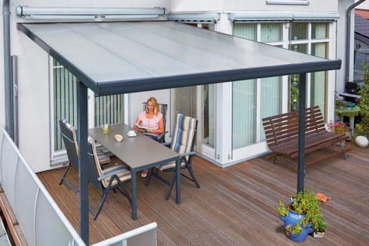 Terrace roofing kit 3,06 x 4,06 m anthrazite