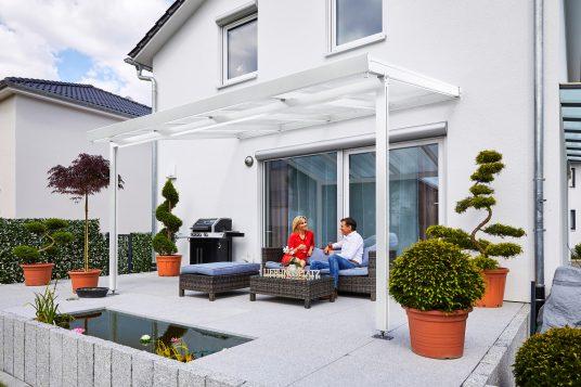 Premium terrace roof kit white 4x3m