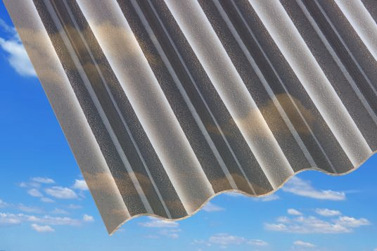 3 mm acrylic corrugated sheets, C-Structure, bronze