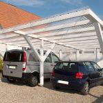 Carport mit Acryl Wellplatten klar