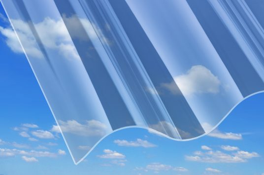 3 mm acrylic corrugated sheets, P5, clear