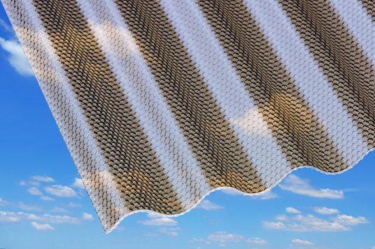 3 mm acrylic corrugated sheets, honeycomb bronze