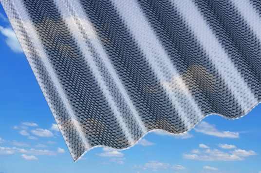 acrylic corrugated sheets 3 mm gutta werke. Black Bedroom Furniture Sets. Home Design Ideas