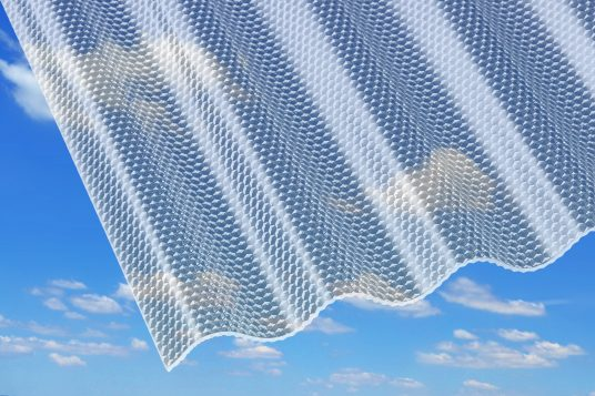 3 mm acrylic corrugated sheets, honeycomb clear