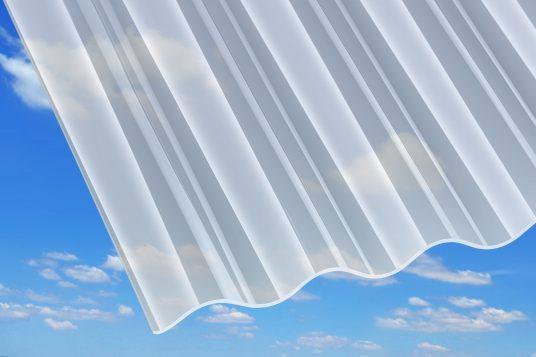 3 mm acrylic corrugated sheets, opal white