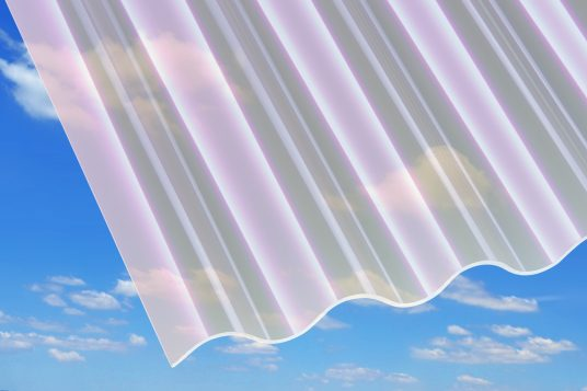 3 mm acrylic corrugated sheets, with heat protection
