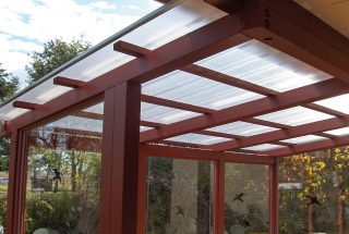 Extension with polycarbonate multi-wall panels