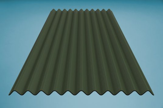 gutta K11 corrugated bitumen sheet green