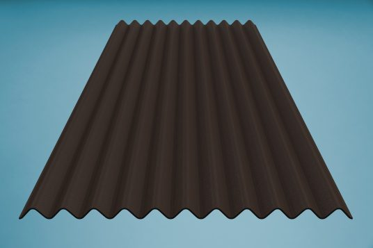 gutta K11 corrugated bitumen sheet brown