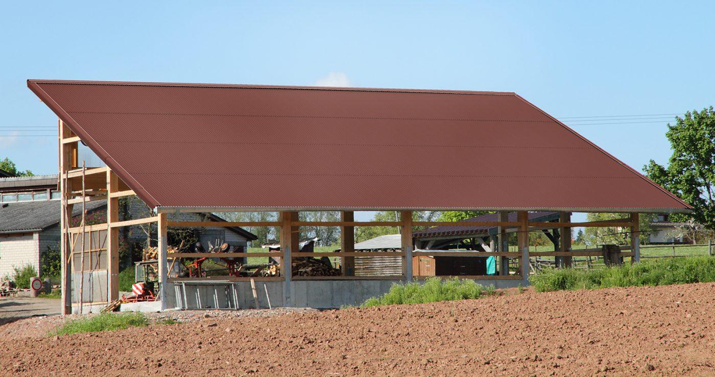 Corrugated bitumensheets K11 brown