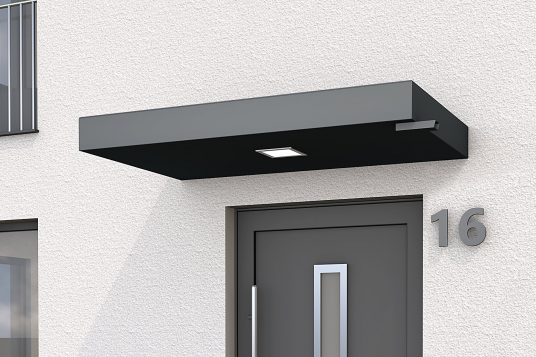 Rectangular canopy BS Plus 160 with waterspout