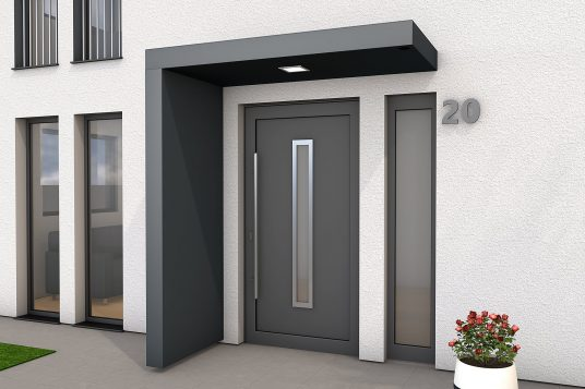 Rectangular canopy BS Plus 200 with side panel