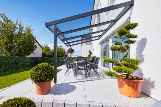 Premium terrace roof kit anthracite 4x3m