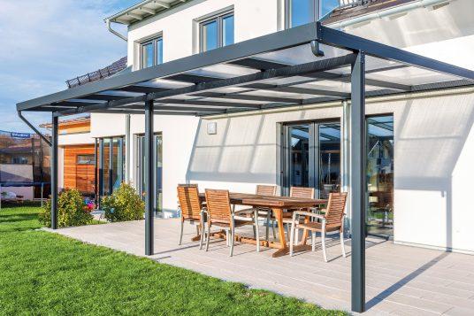 Premium terrace roof kit anthracite 6x4m
