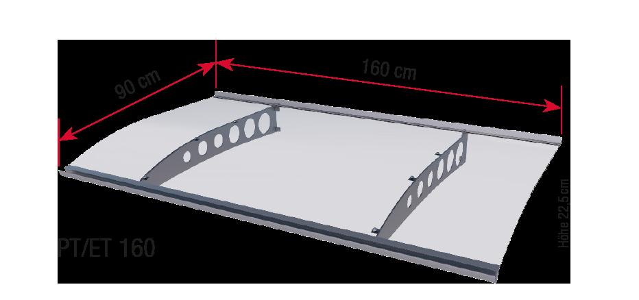 PT-ET 160 dimensions