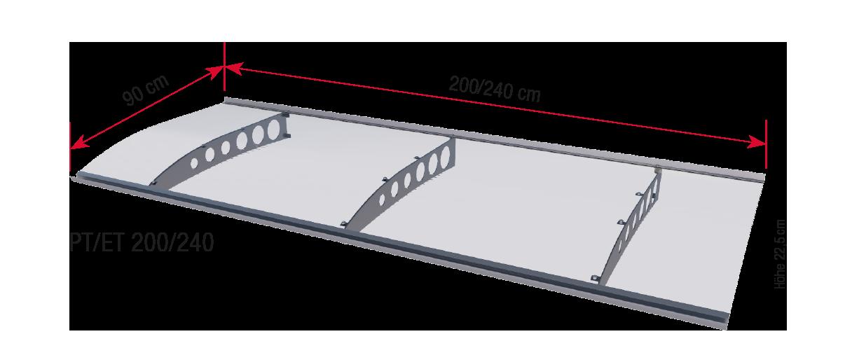 PT-ET 200/240 dimensions