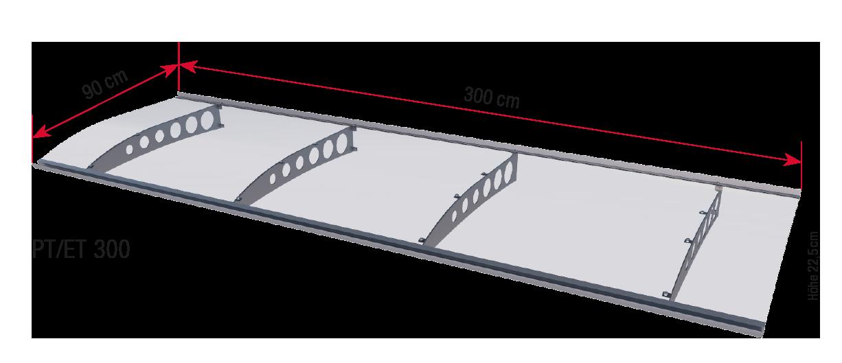 PT-ET 300 dimensions