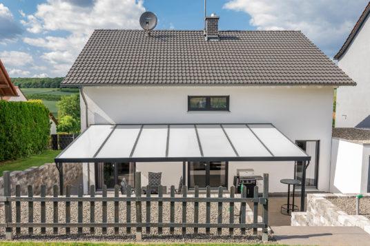 Premium terrace roof kit anthracite 7x4m