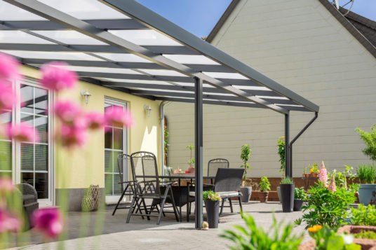 Premium terrace roof kit anthracite 8x4m